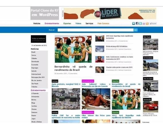 Template Wordpress - Portal De Notícias - Clone Do R7