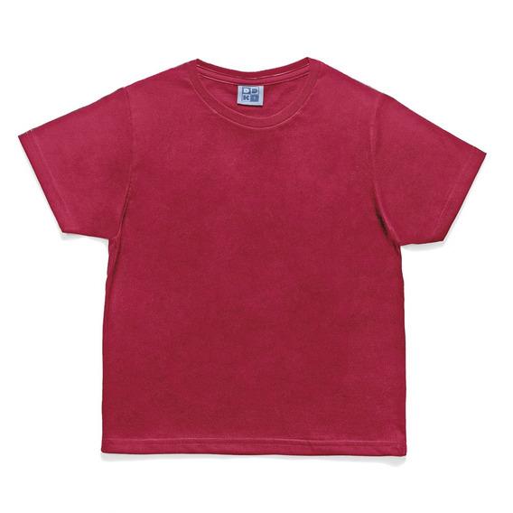 Camiseta Em Algodão - Lisa - Vermelha - Duduka