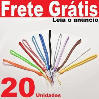 20pçs Cordinhas 17cm Cordões Celular Pen Drive Chaveiro Mp3
