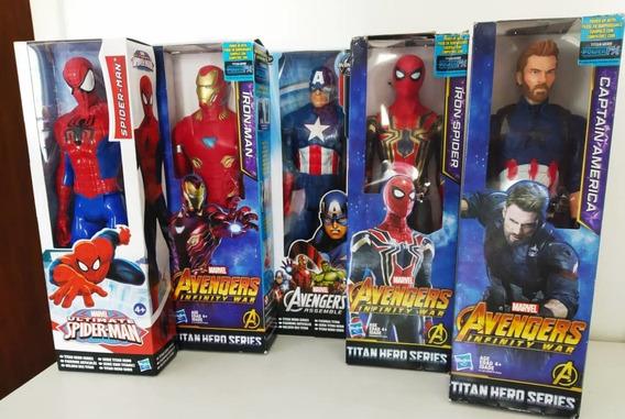 Pantera Negra Capitan America Spiderman Ironman Hasbro 30cm