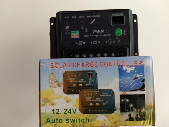 Controlador Solar 10ah Programável Com Display Compatível Mp