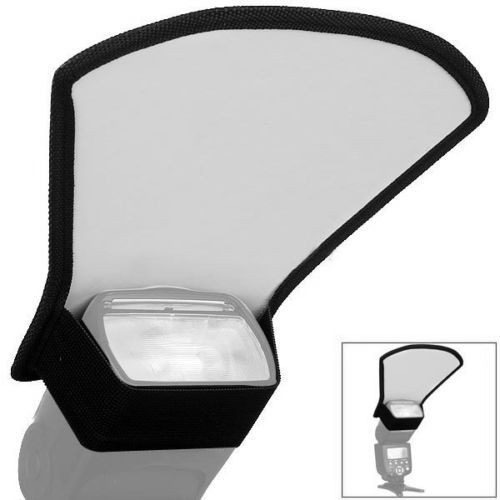 Rebatedor Difusor Universal Branco Prata 2 Lados P/ Flash