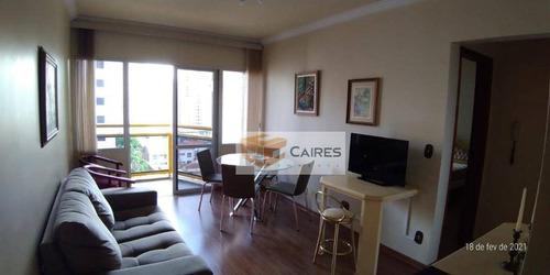 Imagem 1 de 17 de Apartamento Com 1 Dormitório Para Alugar, 50 M² Por R$ 1.700,00/mês - Centro - Campinas/sp - Ap1346