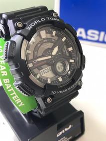 Relógio Casio Standard Masculino Aeq-110w-1av Original C/ Nf
