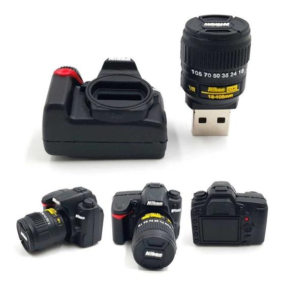 Pendrive 32gb Present Personalizado Câmera Fotográfica Nikon