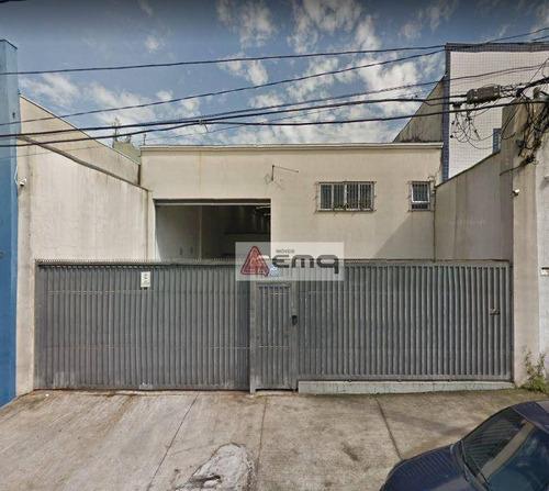 Galpão Para Alugar, 500 M² Por R$ 9.000,00/mês - Vila Alpina - São Paulo/sp - Ga0019