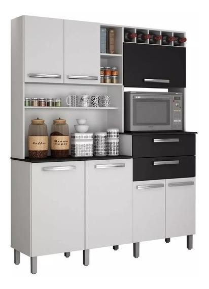 Armário Para Cozinha 7 Portas Monterey - Montagem Grátis