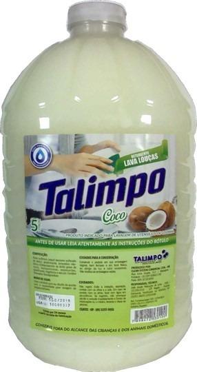 Detergente Lava Louça Ultra Desengordurante 5 L Talimpo