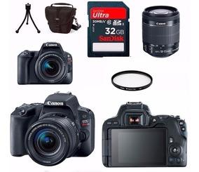 Câmera Canon Eos Sl2+18-55+bolsa+tripé+32gb+filtro Nf-e