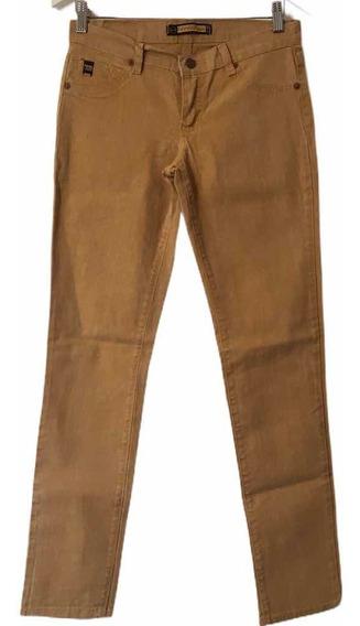 Pantalon Jean Marrón Nahana Jeans T 40 Elastizado Nuevo