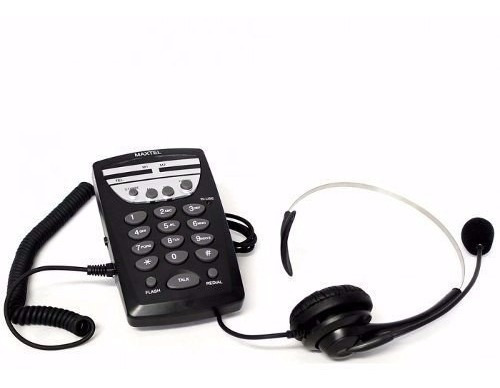 6 Unid Maxtel Headset Mt-108 Head Set Head 7 - Telemarketing
