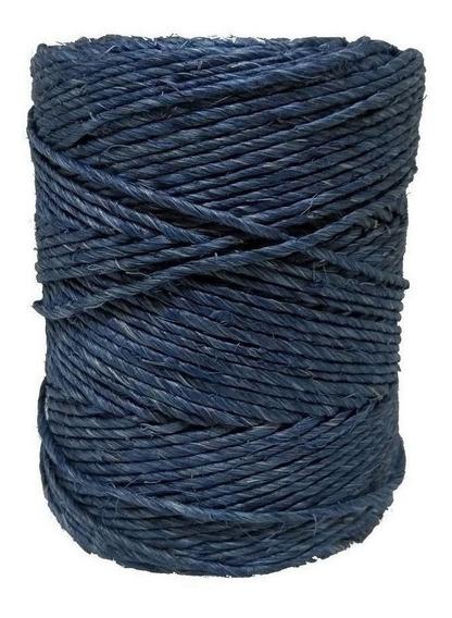 Fio De Sisal Artesanato Azul 700/1 250gr 160 Mts Artesanato