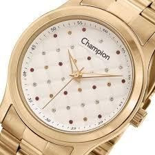 Relógio Champion Feminino Dourado Cn27974h