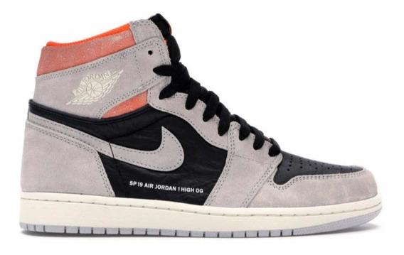 Sneakers Jordan 1 Retro High Neutral Grey Hyper Crimson