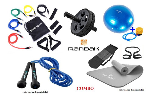 Kit1 Mat Nbr+soga+bandas+rueda Abd+pelota Esf. +envio Gratis