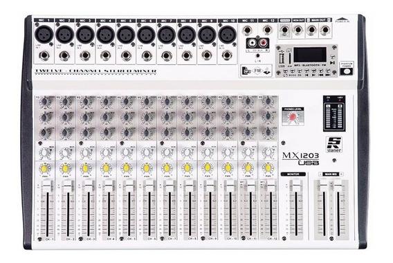 Mesa De Som Mixer Staner Mx 1203 Usb - Bt Phantom!