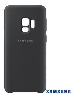 Capa Para Galaxy S9 Alcantara Cover Preta Samsung Original