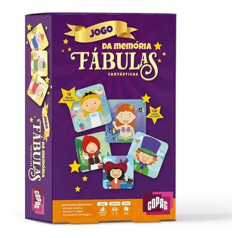 Jogo Da Memoria Fabulas Fantásticas Game Infantil Copag