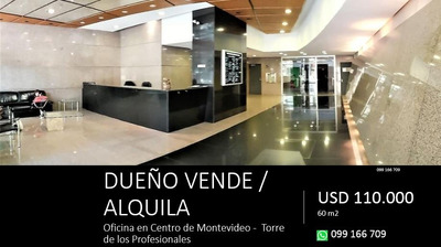 Dueño Vende - Oficina En Torre De Los Profesionales. 59 M2