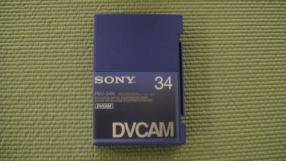 Fita Sony Dvcam, Pdv-34n, Nova, Kit C/5 Unidades