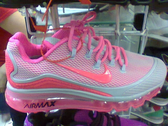 Tenis Nike Air Max 2018 Rosa E Branco Nº34 A 39 Original