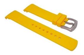 Pulseira Relogio Nautica 22mm Amarela Silicone Frete Gratis