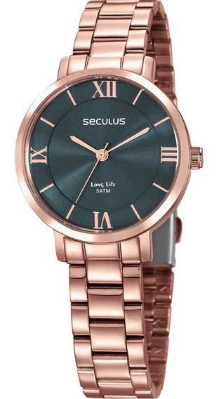 Relógio Feminino Rosê Seculus Original A Prova D