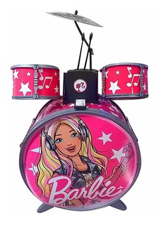 Bateria Musical Completa Barbie Glam Para Niñas Original