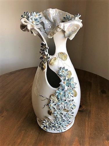 Imagem 1 de 10 de Vaso Exclusivo De Porcelana Bodas D Ouro 50 Anos D Casamento