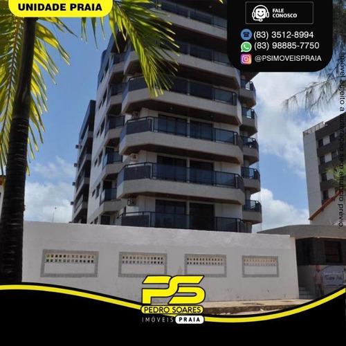 Apartamento Com 3 Dormitórios À Venda, 270 M² Por R$ 1.500.000 - Areia Dourada - Cabedelo/pb - Ap4633