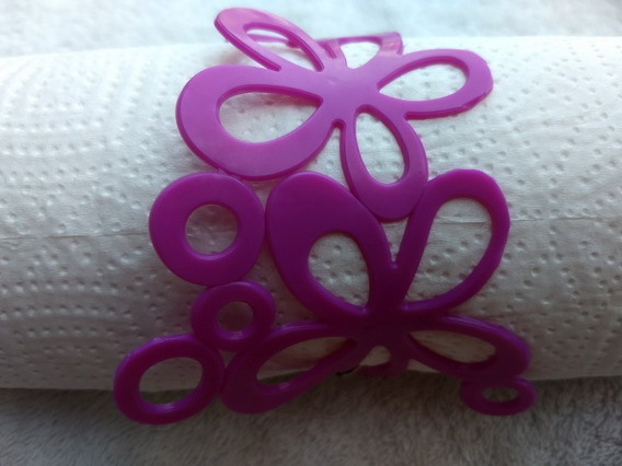 Pulseira Bracelete Maxi Flor 3 Flores Plástico Rosa 24cm