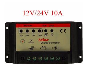 Controlador Carga Painel Solar Pwm 10a 12/24v Carregador