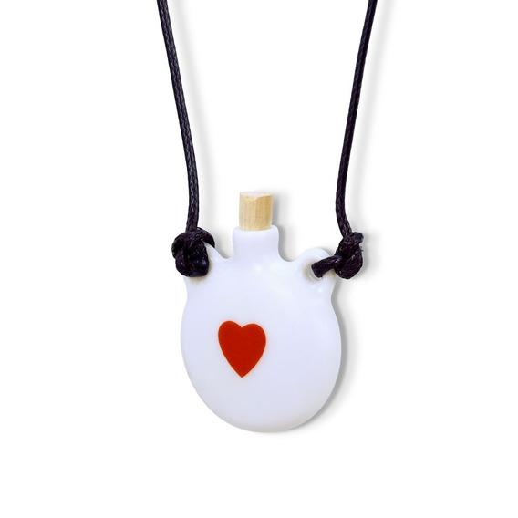 Colar Difusor Aromaterapia Pessoal Ou Porta Perfume Coração