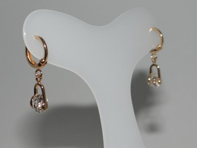 Brinco Argola Cristal Rommanel Redondo Pendurado Ouro 52303