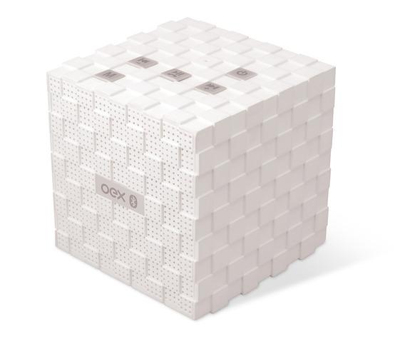 Caixa De Som Bluetooth Speaker Music Box Branco Sk401 Oex