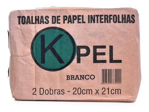 Papel Toalha Interfolha Branco 20 X 21  Kit 5000 Und