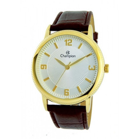 Relógio Champion De Couro Unissex Cn20408s Marrom
