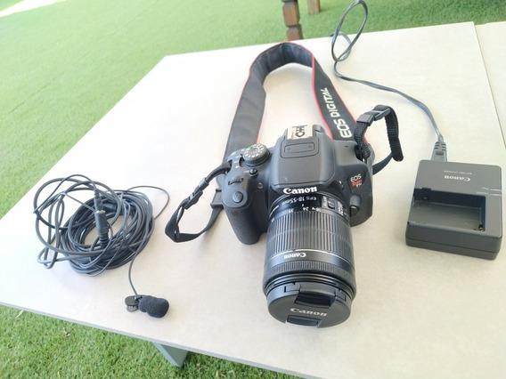 Câmera Dslr Canon Eos T5i Com Lente 18-55mm