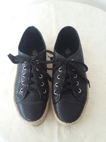 Zapatillas Capellada Sintética Negras Con Brillo, Mujer