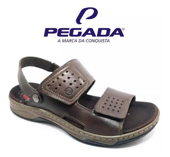 Sandália Masculina Pegada Papete Couro 132206-03 Amortech