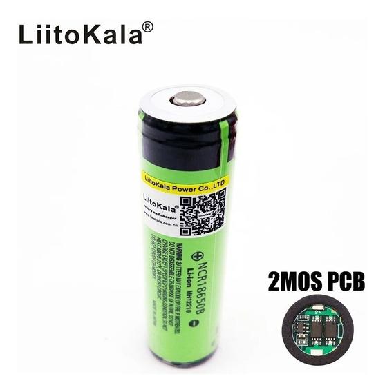 Bateria Liitokala 18650b 3.7v 3400mah Original Protegida