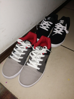 2 Pares Tenis Dc Shoes Originales, Rojo Negro, Negro Blanco