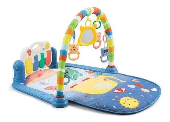 Tapete De Atividades Para Bebê Piano Musical Alegria Azul