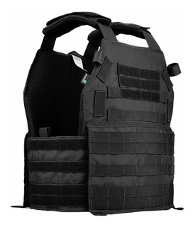 Kit Militar Tático Colete Modular Plate Carrier + Acessórios