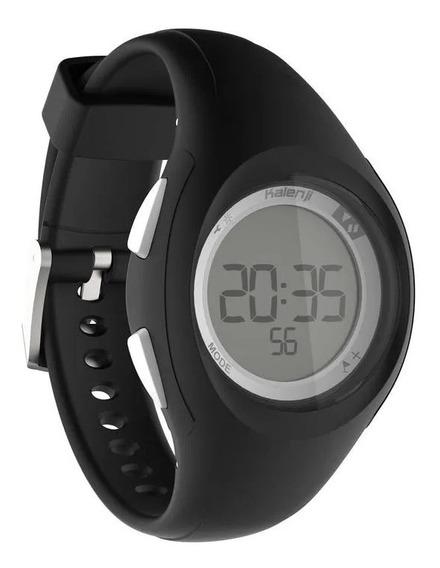 Relógio Esportivo Digital Kalenji Preto Com Timer W200 S