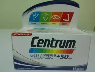 Capsulas De Centrum Silver +50 De 60 Tabletas