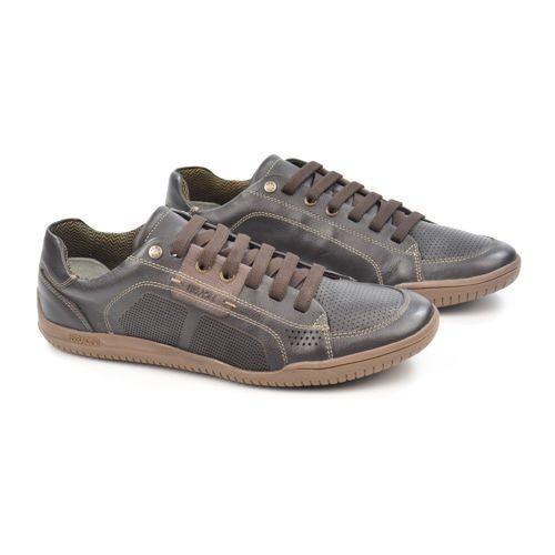 E Sapatenis Masc 8264-26 Chocolate Couro Ferracini - 20645
