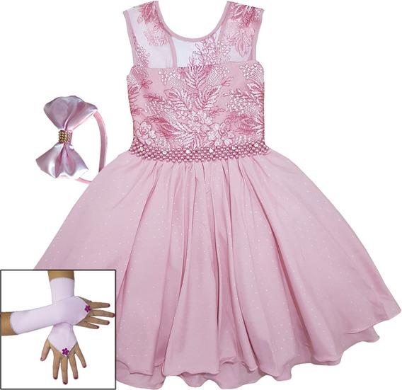 Vestido Infantil Princesa Festa Dama Casamento Aniversário