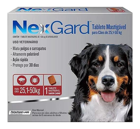 Nexgard 25,1 A 50kg - Prevenção Contra Pulgas E Carrapatos