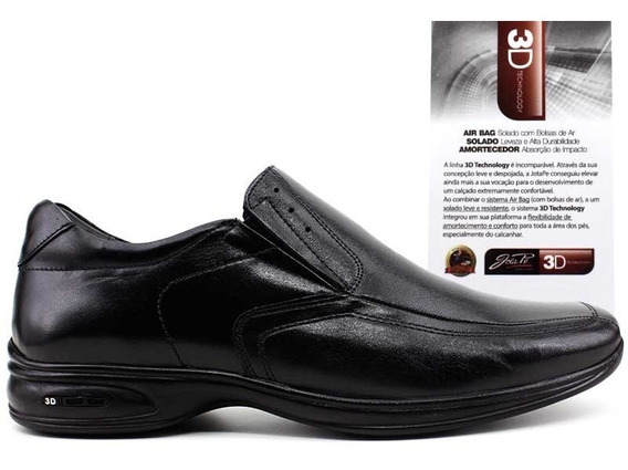 Sapato Jotape 3d Vision 71450 Preto Tamanhos Grandes Pixolé